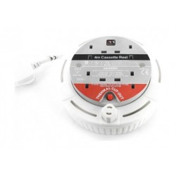 وصلة اشتراك كهربائية ببكرة دائرية من ماستر بلج – طول السلك ٤ متر– أبيض - SCT0413