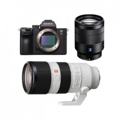 Buy Sony Alpha a7 III Mirrorless Camera + 28-70mm Lens + FE 70-200mm f/2.8 GM OSS E-Mount Lens in Kuwait | Buy Online – Xcite