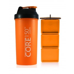 زجاجة إعداد مسحوق البروتين كور١٥٠ - برتقالي