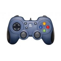 يد التحكم للألعاب من لوجيتك سلكية للكمبيوتر - أزرق