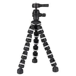 بينديبود حامل كاميرا مرن وثلاثي القوائم من باور - أسود/أبيض - ST107