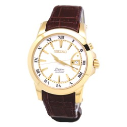 ساعة سيكو للرجال مع سوار من الجلد - NQ144