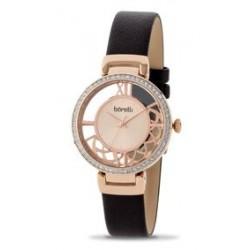 ساعة بوريلي كوارتز للنساء بنظام عرض تناظري ٣٣ ملم - حزام من الجلد (20050785) - بني