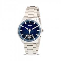 ساعة بوريلي كوارتز للرجال بنظام عرض تناظري - حزام من المعدن - (20055630)