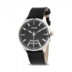 ساعة بوريلي كوارتز للرجال بنظام عرض تناظري - حزام جلد - (20055632)