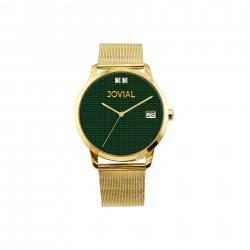 ساعة جوفيال العصرية النسائية بعرض تناظري 44 ملم – سوار معدني -(2011-GGMQ-09) -ذهبي