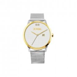 ساعة جوفيال العصرية النسائية بعرض تناظري 44 ملم – سوار معدني -(2011-LTMQ-01) -فضي