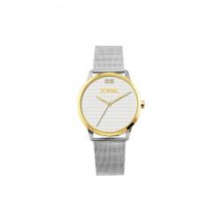 ساعة جوفيال العصرية النسائية بعرض تناظري 34 ملم – سوار معدني -(2011-LTMQ-01) -فضي