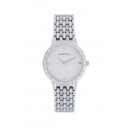 ساعة جين بليكور النسائية معدنية بعرض تناظري بحجم 32 ملم (REDS21) - فضي