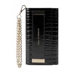 Ideal Of Sweden Studio Cloth iPhone 12 Pro Max Case - Neo Noir Croco