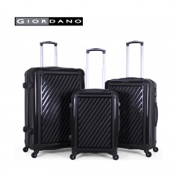 Giordano 25/732310 Hard Luggage 3 Piece Set - Black (71X44X29 CM)