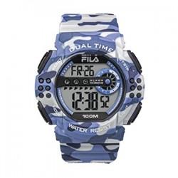 Fila 52mm Men Digital Rubber Sports Watch (38171001) - Camo Blue