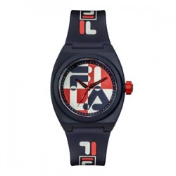 Fila 42mm Unisex Analogue Rubber Fashion Watch (38180101) - Dark Blue