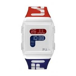 Fila 36mm Gent's Digital Rubber Sports Watch (38105005) - White