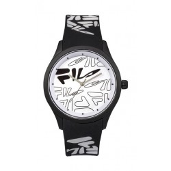 Fila 47mm Unisex Analogue Rubber Sports Watch (38129205) - Black