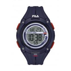 Fila 47mm Gent's Digital Rubber Sports Watch (38132002) - Navy Blue
