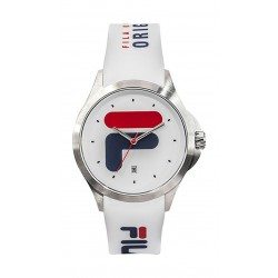Fila 40mm Unisex Analogue Rubber Sports Watch (38181003) - White