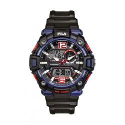 Fila 52mm Gent's Digital Rubber Sports Watch (38189001) - Black