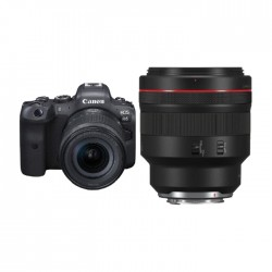 Canon EOS R6 Mirrorless Camera + 24-105MM Lens + RF 85mm f/1.2L USM DS Lens in Kuwait | Buy Online – Xcite