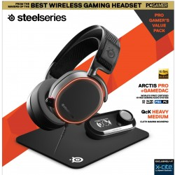 Steelseries All-In-One Gaming Kit  (Arctis Pro Black + Game Dac + QCK Medium Mousepad)