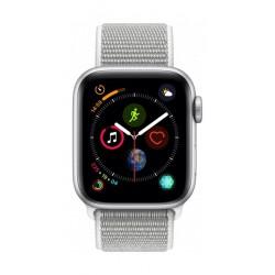 Apple Watch Series 4 40mm, Silver Aluminium Case, Seashell Sport Loop