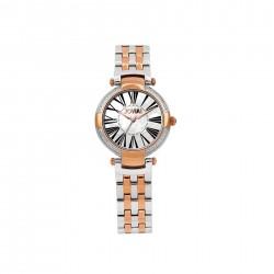ساعة جوفيال النسائية بعرض تناظري وحزام معدني  32 ملم (4765-LAMQ-01) -وردي ذهبي