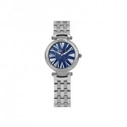 ساعة جوفيال النسائية بعرض تناظري وحزام معدني  32 ملم (4765-LSMQ-04) - فضي