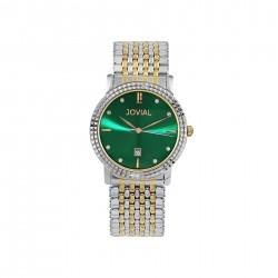 ساعة جوفيال العصرية النسائية بعرض تناظري 40 ملم – سوار معدني - (5027-GTMQ-09) -فضي