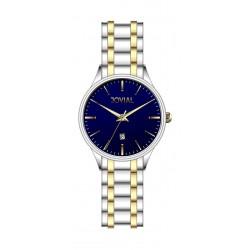ساعة جوفيال الرجالية التناظرية - معدني (5028-GTMQ-04) - ذهبي/فضي