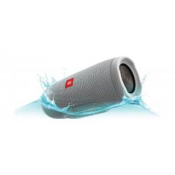 مكبر الصوت تشارج ٣ اللاسلكي المحمول والمضاد لتناثر الماء بتقنية البلوتوث من جى بي إل – رمادي