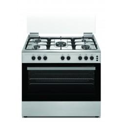 طباخ الغاز وانسا القائم ٥ شعلات بحجم ٦٠x٩٠ سم – فضي  (WCT9502124X)