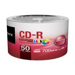 مجموعة اسطوانات سي دي - آر قابل للطباعة سعة ٧٠٠ ميجابايت / ٨٠ دقيقة من سوني - ٥٠ حبة
