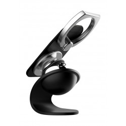 Promate RingMount Smartphone Selfie Grip with Magnetic Car Mount - Black