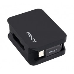 PNY Retractable Lightning Cable - Black