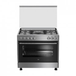 Beko 90X60 4 Burner + 1 Wok Gas Cooker (GG 15125) - Grey