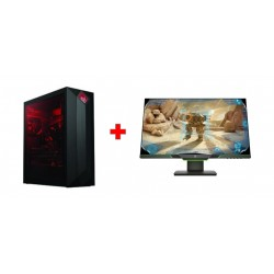 HP 27-inch QHD Gaming Monitor - 3WL54AA + HP OMEN Obelisk 8GB GTX1080 Core i7 32GB RAM 3TB HDD + 512 GB SSD Gaming Desktop - 875-0000NE