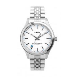 Timex 34mm Casual Ladies Analog Metal Watch (TW2U23400) - Silver