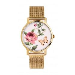 Timex 34mm Casual Ladies Analog Metal Watch (TW2U19100) - Gold