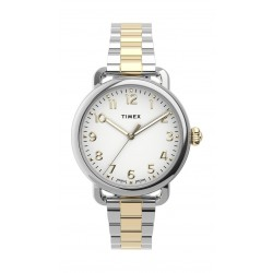 Timex 34mm Casual Ladies Analog Metal Watch - (TW2U13800) - Silver/Gold