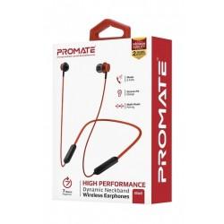 Promate Bali High Performance Dynamic Neckband Wireless Earphones - Maroon