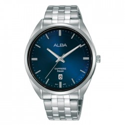 ساعة ألبا كاجوال رجالية معدنية  بحجم 41 ملم وبعرض تناظري (AS9L11X1)