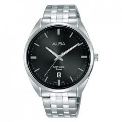 ساعة ألبا كاجوال رجالية معدنية  بحجم 41 ملم وبعرض تناظري (AS9L13X1)