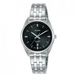 ساعة ألبا كاجوال معدنية  بحجم 29 ملم وبعرض تناظري للنساء (AH7V51X1)