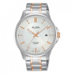 ساعة ألبا كاجوال رجالية معدنية  بحجم 41 ملم وبعرض تناظري (AS9L33X1)