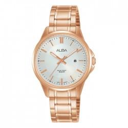 ساعة ألبا العصرية معدنية  بحجم 31 ملم وبعرض تناظري للنساء (AH7V80X1)