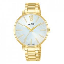ساعة ألبا العصرية معدنية  بحجم 36 ملم وبعرض تناظري للنساء (AH8752X1)