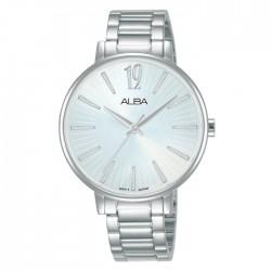 ساعة ألبا العصرية معدنية  بحجم 36 ملم وبعرض تناظري للنساء (AH8759X1)