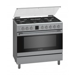 Bosch 90X60 CM 5 Burner Gas Cooker (HGK90VQ50M) - Stainless Steel