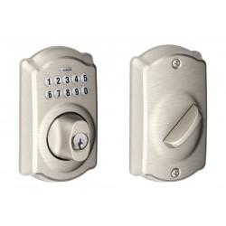 قفل الباب كاميلوت من شليج - نيكل لامع (BE365VCAM619)