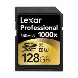 بطاقة الذاكرة بروفويشنل ١٠٠٠× من ليكسر ١٢٨ جيجا بايت - ١٥٠ ميجا بايت بالثانية الفئة ١٠ -  LSD128CRBEU1000